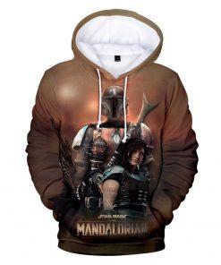 Mandalorian Hoodie Men Women Casual Baby Yoda Hoodies Sweatshirts Streetwear Hip Hop Pullovers Custom 3D Printed 5