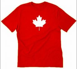 Maple Leaf T shirt Funny Canada Canadian Toronto Flag Eh Tee Shirt Canada Day