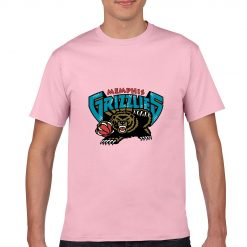 Memphis Grizzlies Cartoon Men Basketball Jersey Tee Shirts Fashion Man streetwear tshirt 1