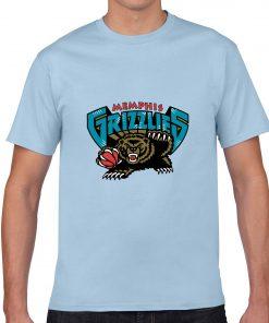 Memphis Grizzlies Cartoon Men Basketball Jersey Tee Shirts Fashion Man streetwear tshirt 2