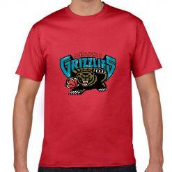 Memphis Grizzlies Cartoon Men Basketball Jersey Tee Shirts Fashion Man streetwear tshirt