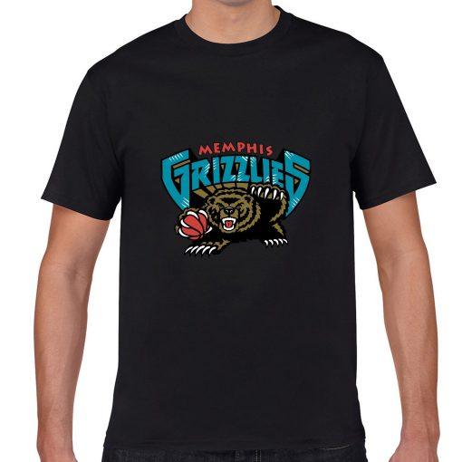 Memphis Grizzlies Cartoon Men Basketball Jersey Tee Shirts Fashion Man streetwear tshirt 3