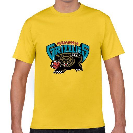 Memphis Grizzlies Cartoon Men Basketball Jersey Tee Shirts Fashion Man streetwear tshirt 4