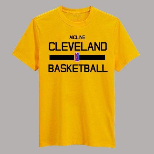 Men 2016 Training Wear T shirt Basketball cleveland Uniforms Loose shirt K1237 1