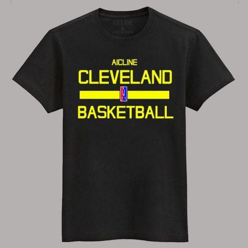 Men 2016 Training Wear T shirt Basketball cleveland Uniforms Loose shirt K1237
