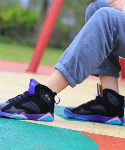 Men Air Cushion Jordan Retro Basketball Shoes High top Basketball Sneakers Couple Boots Outdoor Men New 2