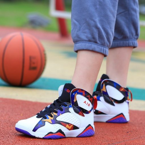 Men Air Cushion Jordan Retro Basketball Shoes High top Basketball Sneakers Couple Boots Outdoor Men New 3