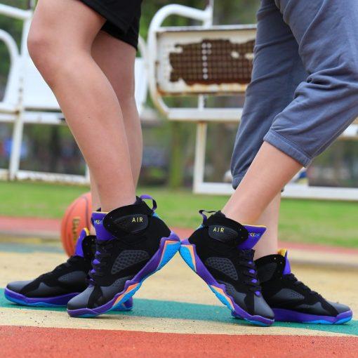 Men Air Cushion Jordan Retro Basketball Shoes High top Basketball Sneakers Couple Boots Outdoor Men New 4