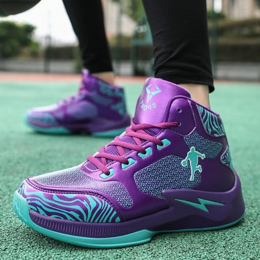 Men Basketball Shoes High Top Comfortable LitheTraining Boots Ankle Boots Outdoor Men Sneakers Athletic Sport Shoes 5
