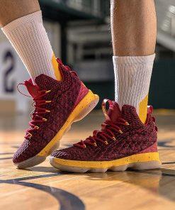 Men Basketball Shoes Sneakers LBJ Basket Trainers Male Ankle Shockproof Couple Elastic Basketball Shoes Zapatillas De 4