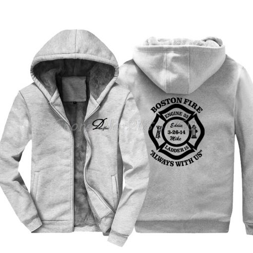 Men Cotton Fashion New Boston Fire Fighter Fire Department Black Sweatshirt Hip Hop Tops Jacke Hoodies 3