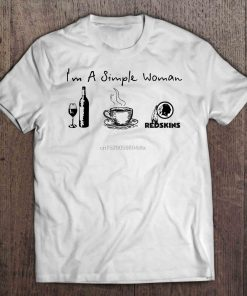 Men Funny T Shirt Fashion tshirt I m A Simple Woman I Like Wine Coffee And