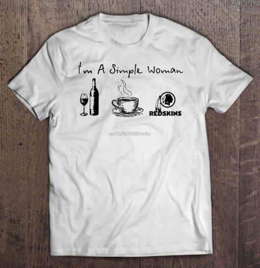 Men Funny T Shirt Fashion tshirt I m A Simple Woman I Like Wine Coffee And