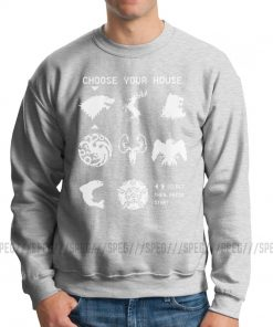 Men Game Of Thrones Choose Your House Hoodie Funny Sweatshirts Cotton Geek Pullover 1