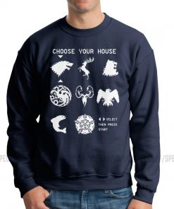 Men Game Of Thrones Choose Your House Hoodie Funny Sweatshirts Cotton Geek Pullover 3