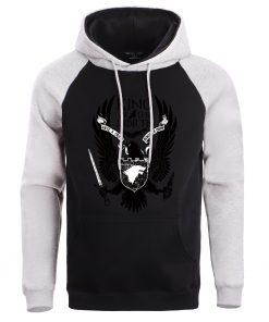 Men Game Of Thrones Hoodie Sweatshirt Hoodies Sweatshirts House Stark Male Wolf Winter Fleece Warm Pullover 3