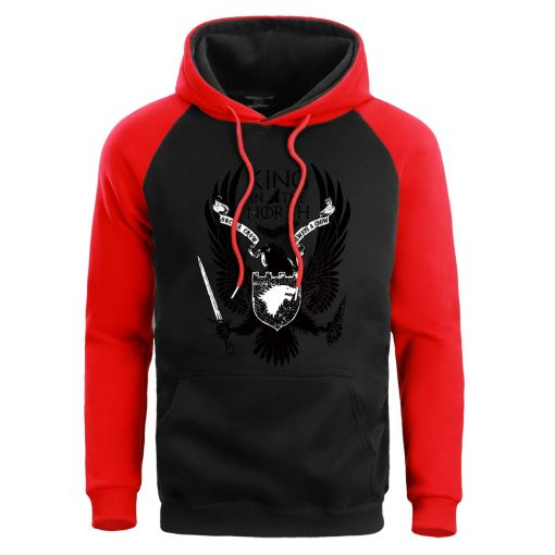 Men Game Of Thrones Hoodie Sweatshirt Hoodies Sweatshirts House Stark Male Wolf Winter Fleece Warm Pullover