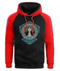 Men Game Of Thrones Sweatshirt Crewneck Hoodies Male Sweatshirts Mens Winter Yggdrasil Tree Of Life Hoodie 1