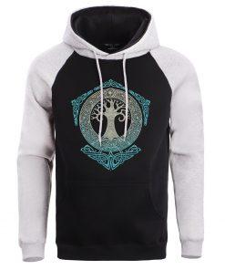 Men Game Of Thrones Sweatshirt Crewneck Hoodies Male Sweatshirts Mens Winter Yggdrasil Tree Of Life Hoodie