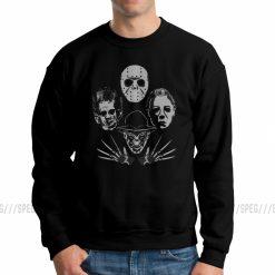 Men Horror Rhapsody Michael Myers Friday The 13th Jason Voorhees Sweatshirt Crazy Pullover Cotton Hoodies Autumn