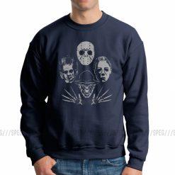 Men Horror Rhapsody Michael Myers Friday The 13th Jason Voorhees Sweatshirt Crazy Pullover Cotton Hoodies Autumn 3