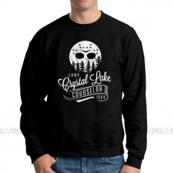 Men Jason Voorhees Camp Crystal Lake Counselor Friday The 13th Horror Hoodies Casual Sweatshirts Cotton Classic