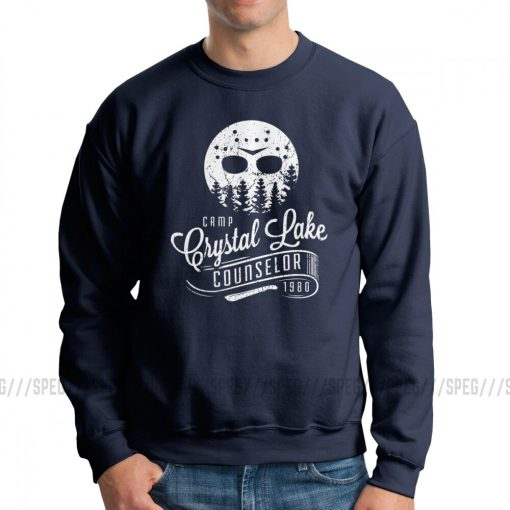 Men Jason Voorhees Camp Crystal Lake Counselor Friday The 13th Horror Hoodies Casual Sweatshirts Cotton Classic 3