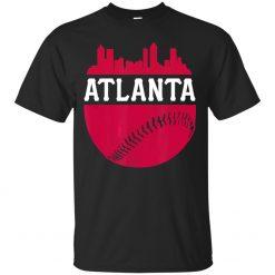 Men S Atlanta Baseball Atl Vintage Skyline Brave Retro T Shirt Size M 3Xl Tops Tee