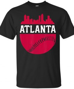 Men S Atlanta Baseball Atl Vintage Skyline Brave Retro T Shirt Size M 3Xl Tops Tee