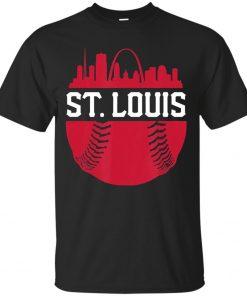 Men S Vintage St Louis Baseball Skyline Cardinal Retro T Shirt Size M 3Xl Unisex Loose