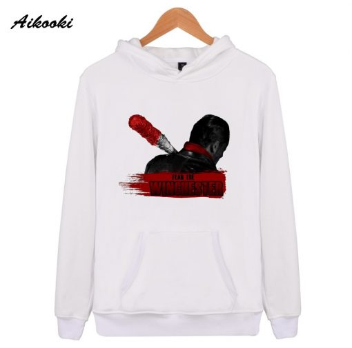 Men Sweatshirt Negan Hooded Men women Print Fear The Winchester Hoodies Sportswear The Walking Dead Casual