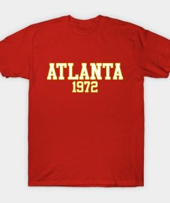 Men T Shirt Atlanta 1972 Tshirt Women T Shirt
