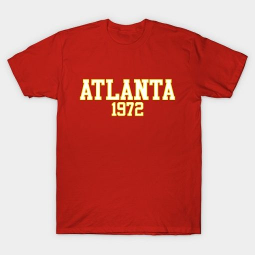 Men T Shirt Atlanta 1972 Tshirt Women T Shirt