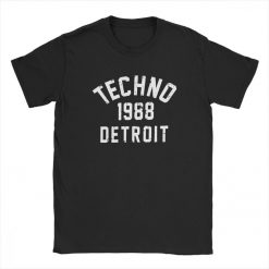 Men T Shirts Techno 1988 Detroit Fashion 100 Premium Cotton Tees Camiseta T Shirts Round Neck 1