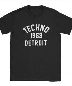 Men T Shirts Techno 1988 Detroit Fashion 100 Premium Cotton Tees Camiseta T Shirts Round Neck 1