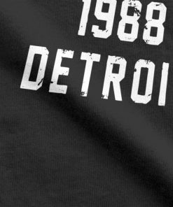 Men T Shirts Techno 1988 Detroit Fashion 100 Premium Cotton Tees Camiseta T Shirts Round Neck 2