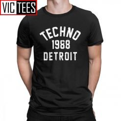 Men T Shirts Techno 1988 Detroit Fashion 100 Premium Cotton Tees Camiseta T Shirts Round Neck
