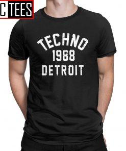 Men T Shirts Techno 1988 Detroit Fashion 100 Premium Cotton Tees Camiseta T Shirts Round Neck