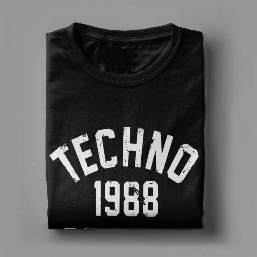 Men T Shirts Techno 1988 Detroit Fashion 100 Premium Cotton Tees Camiseta T Shirts Round Neck 3
