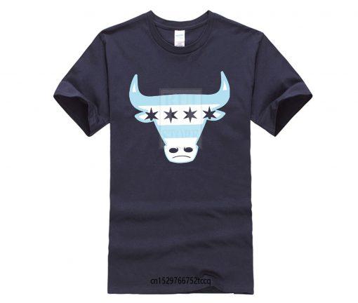 Men Tee Shirt Tops Short Sleeve Cotton Fitness T shirts Men s Chicago Flag Bull T 4