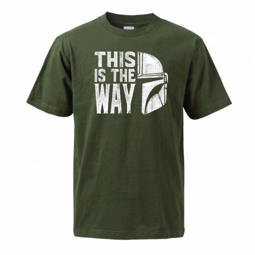 Men The Mandalorian T Shirts 2020 Summer Tops Tees Cotton Short Sleeve Star Wars This Is 2