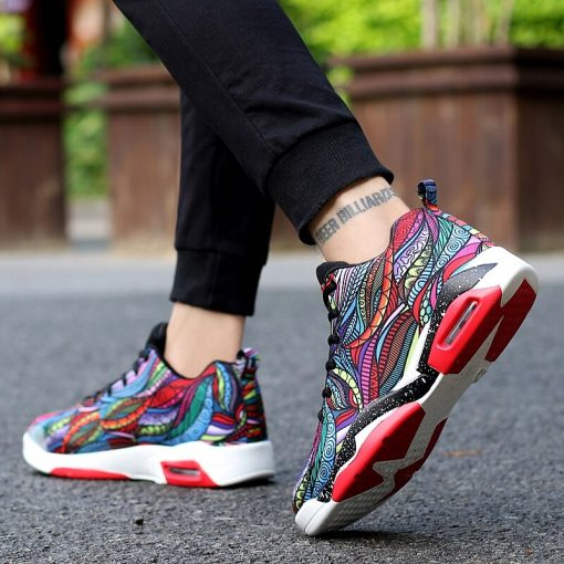 Men Women Air Cushion Basketball Shoes Tennis Shoes High Top Gym Training Boots Ankle Boots Outdoor 1