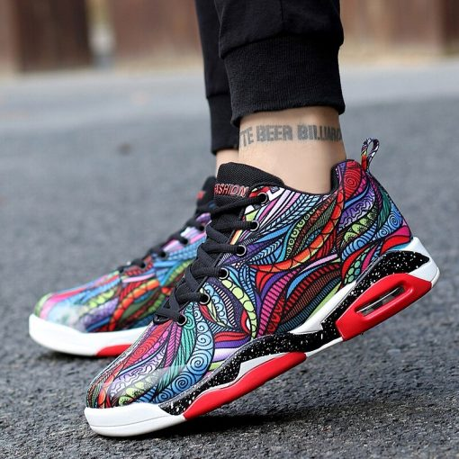 Men Women Air Cushion Basketball Shoes Tennis Shoes High Top Gym Training Boots Ankle Boots Outdoor 3