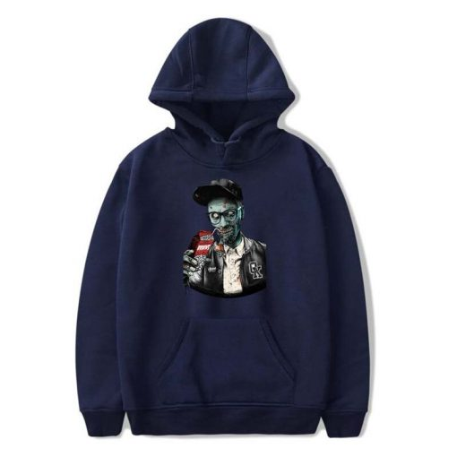 Men fashion long sleeved round neck hoodies Harajuku Walking dead funny printing unisex loose sweatshirt hip 4