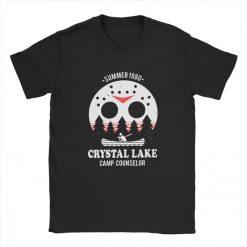 Men s Crystal Lake Camp Counselor T Shirt The 13 Friday Jason Horror 13Th 100 Premium 1