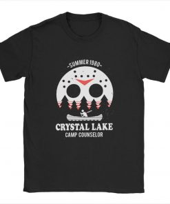 Men s Crystal Lake Camp Counselor T Shirt The 13 Friday Jason Horror 13Th 100 Premium 1