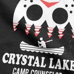 Men s Crystal Lake Camp Counselor T Shirt The 13 Friday Jason Horror 13Th 100 Premium 2