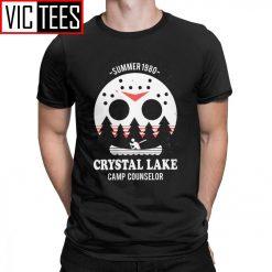 Men s Crystal Lake Camp Counselor T Shirt The 13 Friday Jason Horror 13Th 100 Premium