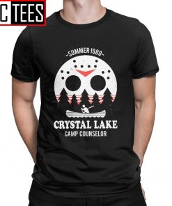 Men s Crystal Lake Camp Counselor T Shirt The 13 Friday Jason Horror 13Th 100 Premium
