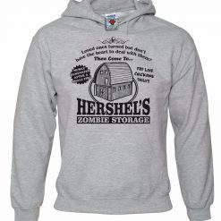Men s Hershel s Zombie Storage Hoodie Funny Hoody Dead Walking Walkers men long sleeve gym